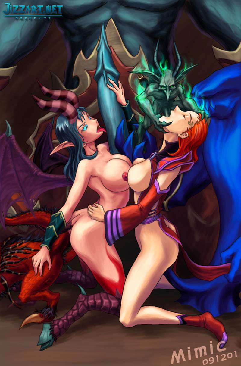 Hot night elves fucking each other nude galleries