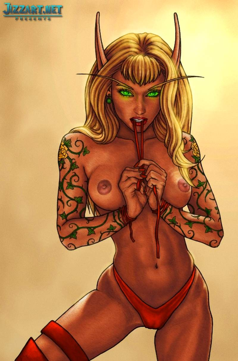 Naked drawn blood elf sexy video