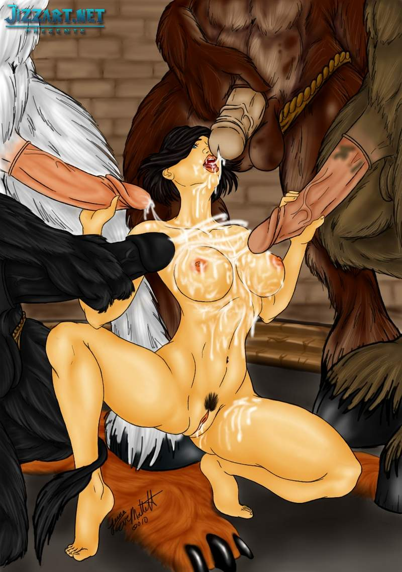 Orc chick suck elf dick