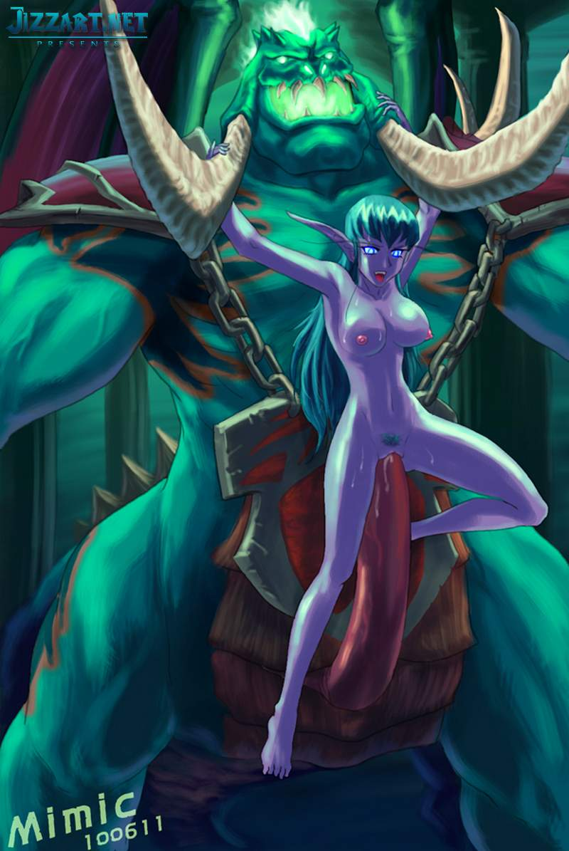 Night elf cum hard