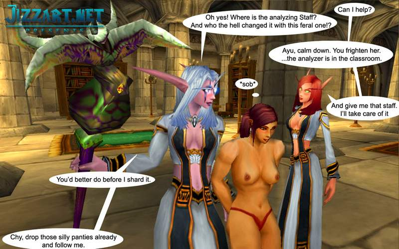 Female night elf dance nude