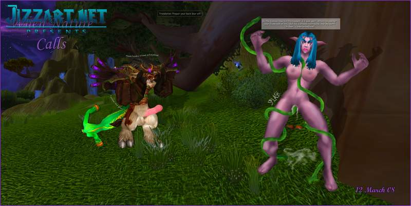 Night elf sucks cock