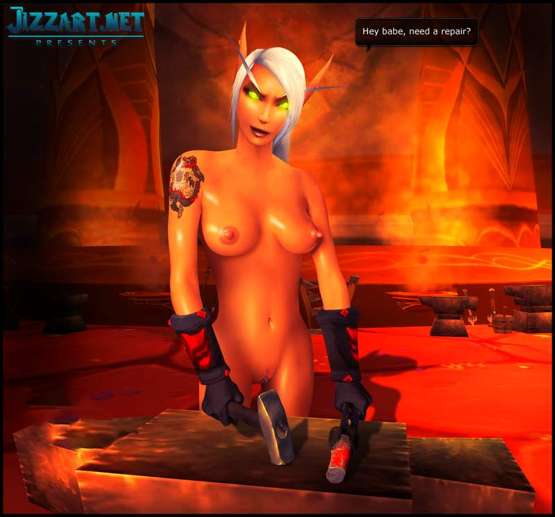 Wow night elf naked girl