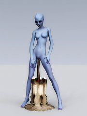 3d space alien monster sex