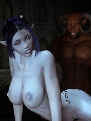 Naked dark elf