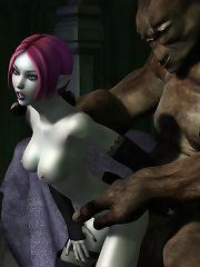 Girl abused by orcs 3d