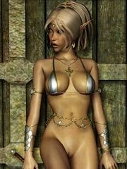 Naked female elves
