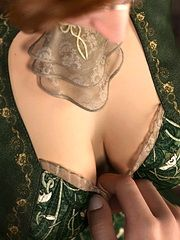 Sexy elf sucking huge cock