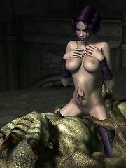 Naked worgen female