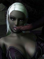 Dark elf 3d orgasm